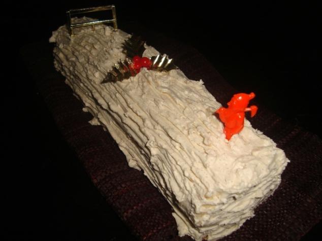 Bûche de Noël à la vanille