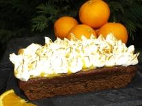 Gâteau Chocolat & Pépites de chocolat à l'orange meringuée3
