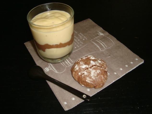 crème dessert marbrée vanille chocolat