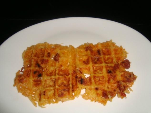 gaufres aux pommes de terre et chorizo